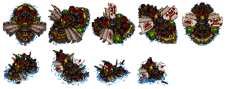 PC Computer - Warcraft II - Ogre Juggernaut