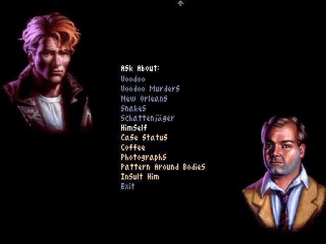 Un ecran de dialog cu unul din personajele importante pentru poveste.